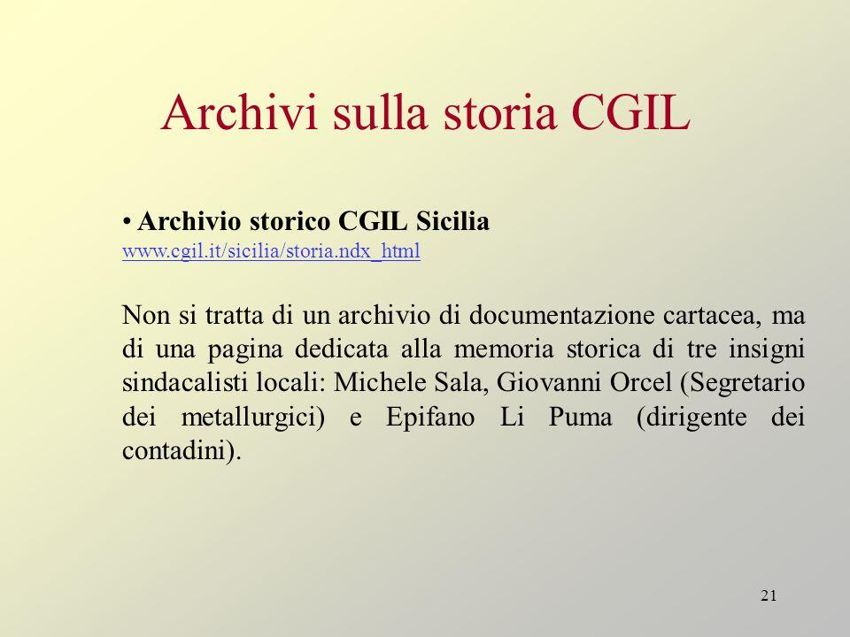 Archivi sulla storia CGIL