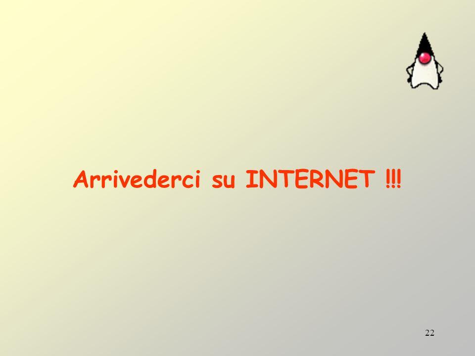 Arrivederci su INTERNET !!!