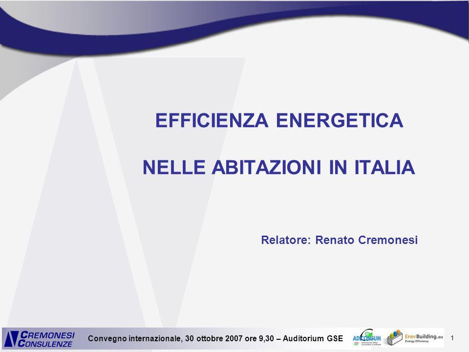 EFFICIENZA ENERGETICA NELLE ABITAZIONI IN ITALIA