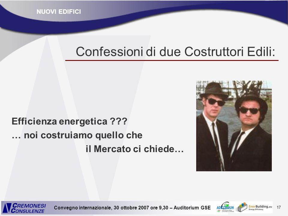 Confessioni di due Costruttori Edili: