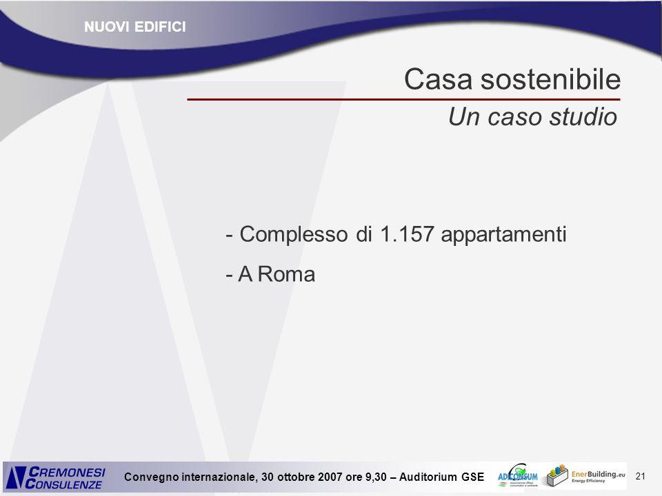 Casa sostenibile Un caso studio Complesso di 1.157 appartamenti A Roma