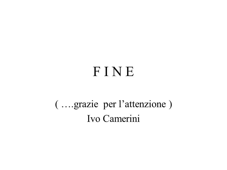 ( ….grazie per l'attenzione ) Ivo Camerini