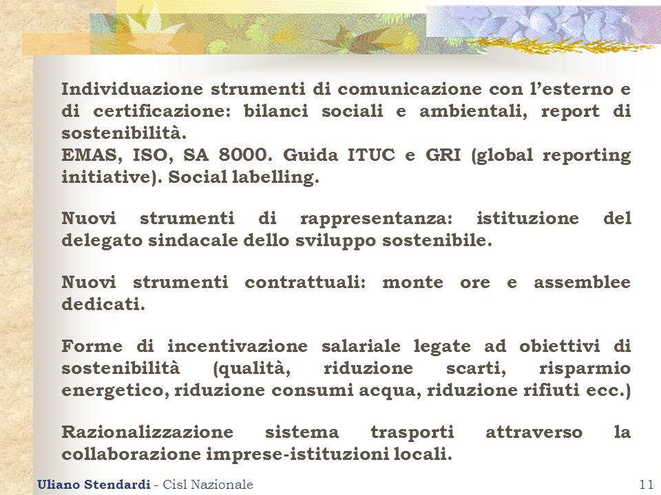 Uliano Stendardi - Cisl Nazionale