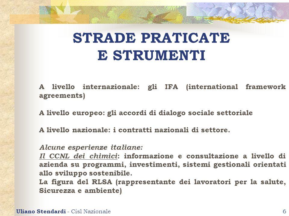 STRADE PRATICATE E STRUMENTI