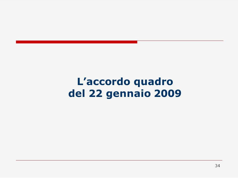 L'accordo quadro del 22 gennaio 2009