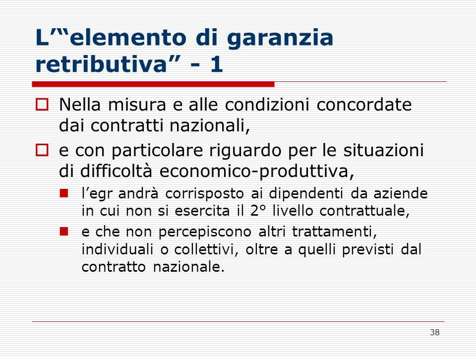 L' elemento di garanzia retributiva - 1