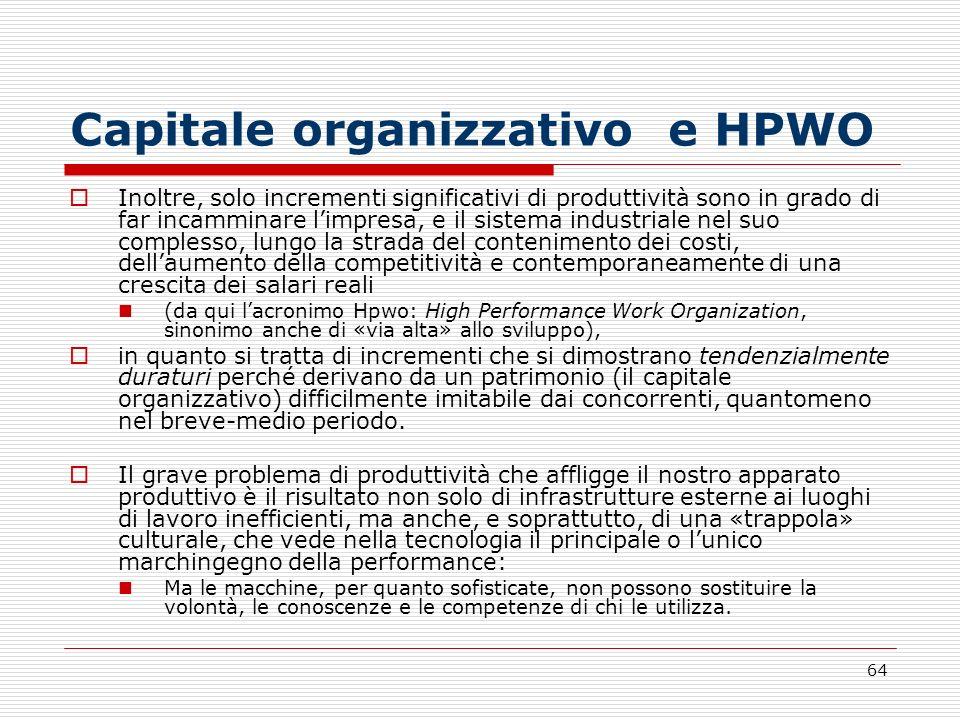 Capitale organizzativo e HPWO
