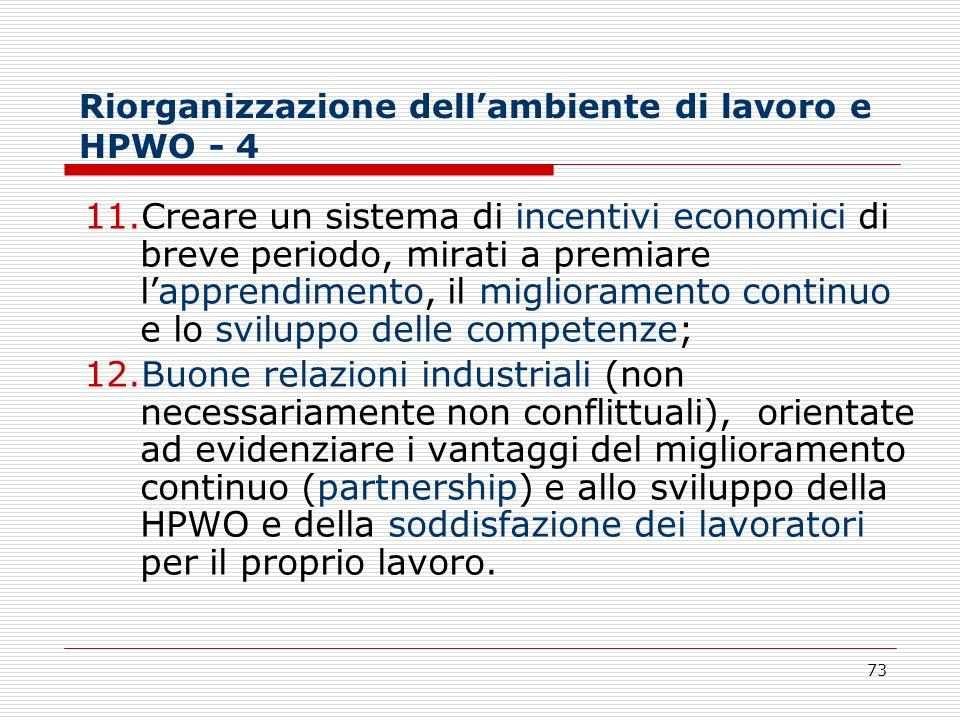Riorganizzazione dell'ambiente di lavoro e HPWO - 4
