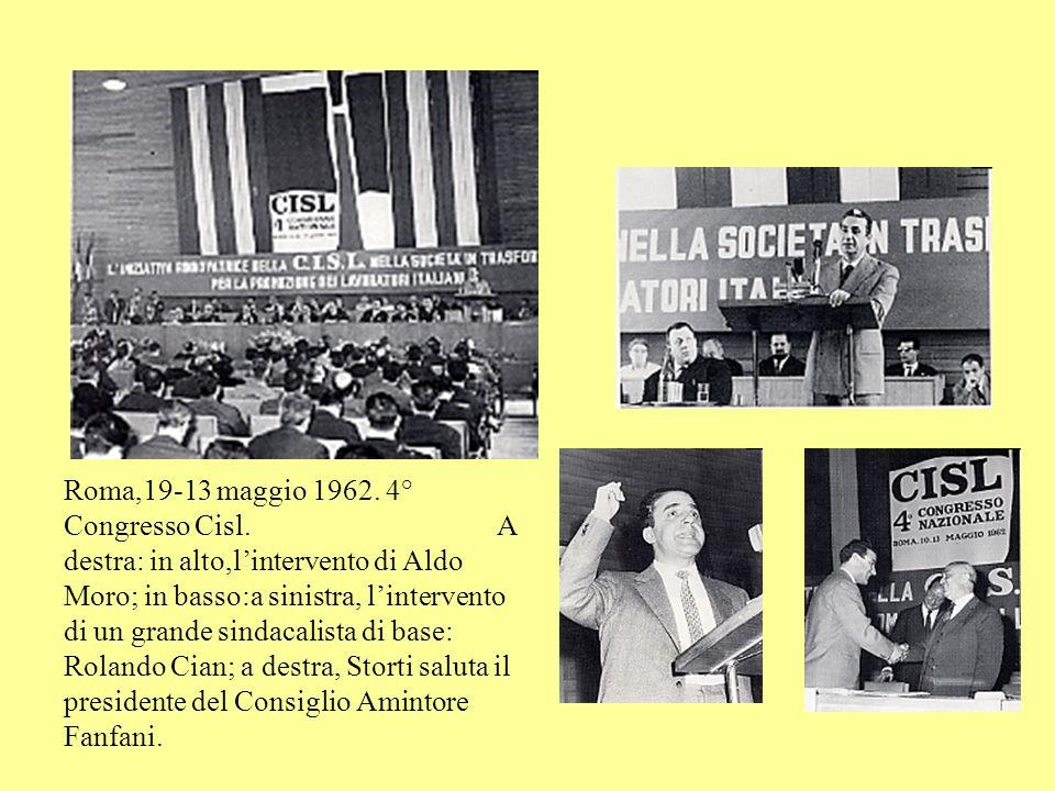 Roma,19-13 maggio 1962. 4° Congresso Cisl