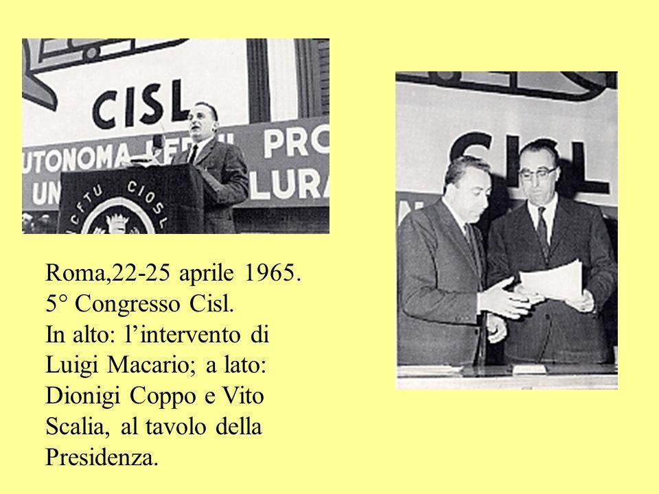 Roma,22-25 aprile 1965. 5° Congresso Cisl