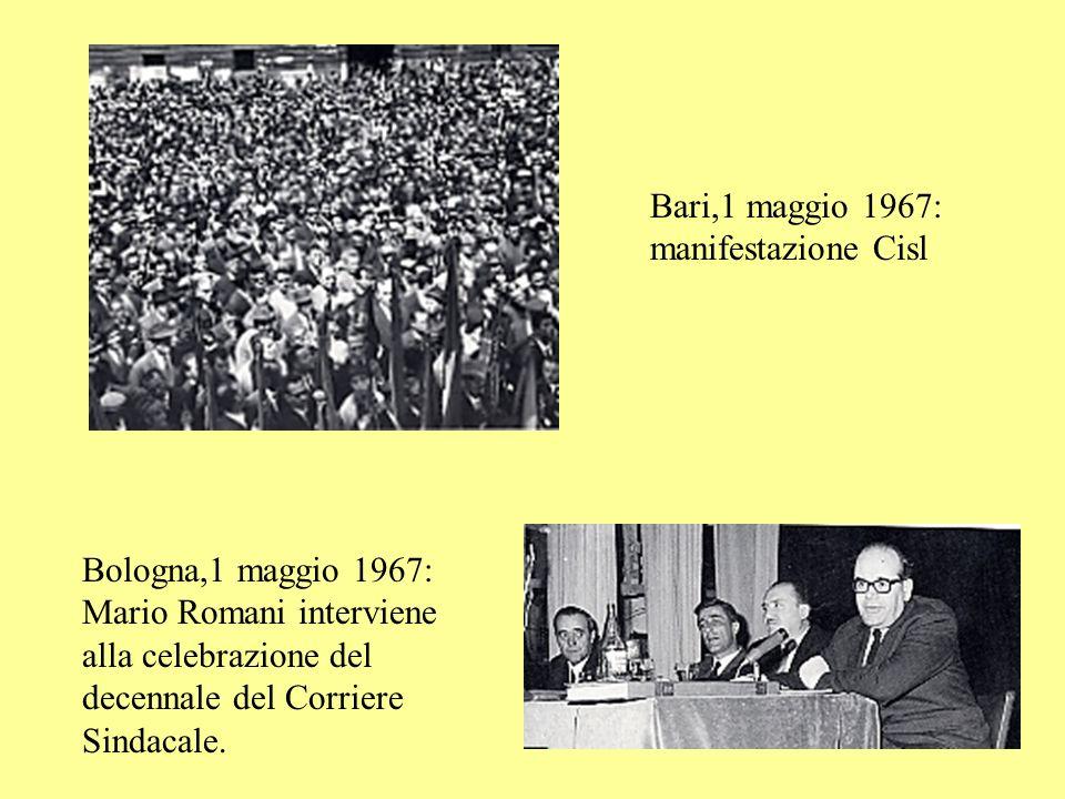 Bari,1 maggio 1967: manifestazione Cisl