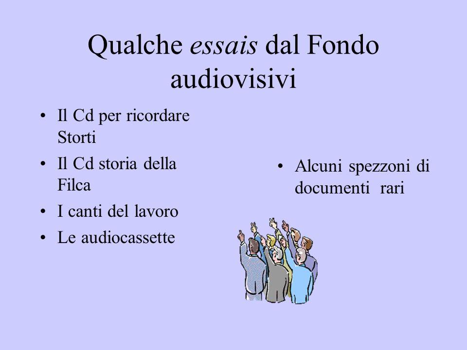 Qualche essais dal Fondo audiovisivi