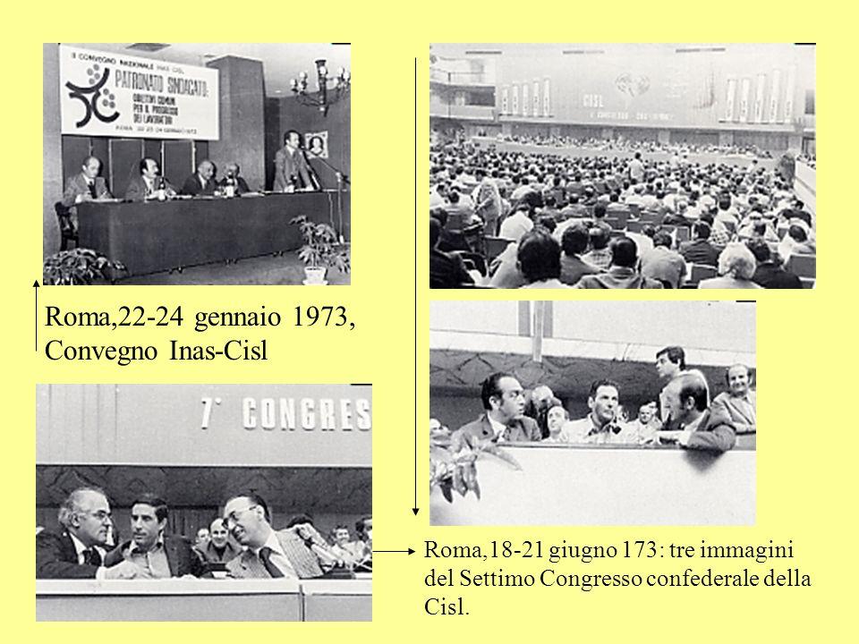 Roma,22-24 gennaio 1973, Convegno Inas-Cisl