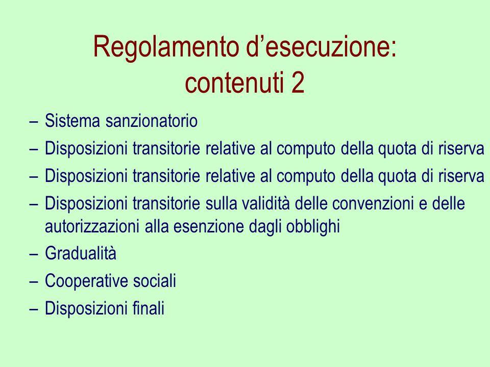 Regolamento d'esecuzione: contenuti 2