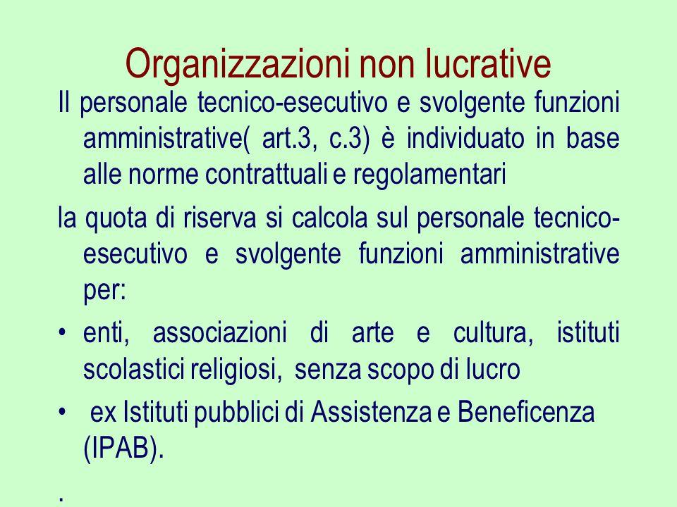Organizzazioni non lucrative