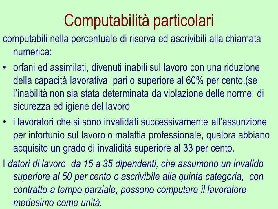 Computabilità particolari