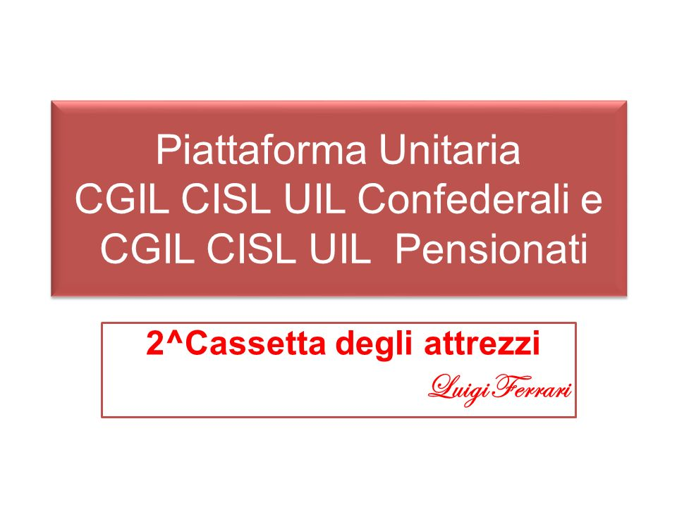 2^Cassetta degli attrezzi Luigi Ferrari
