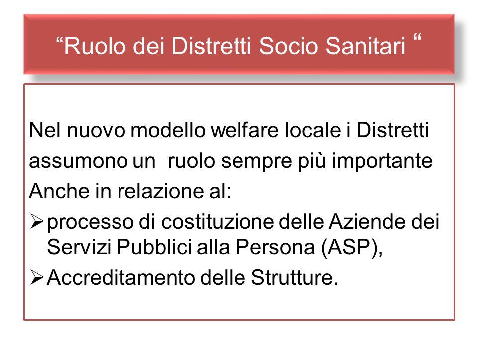 Ruolo dei Distretti Socio Sanitari