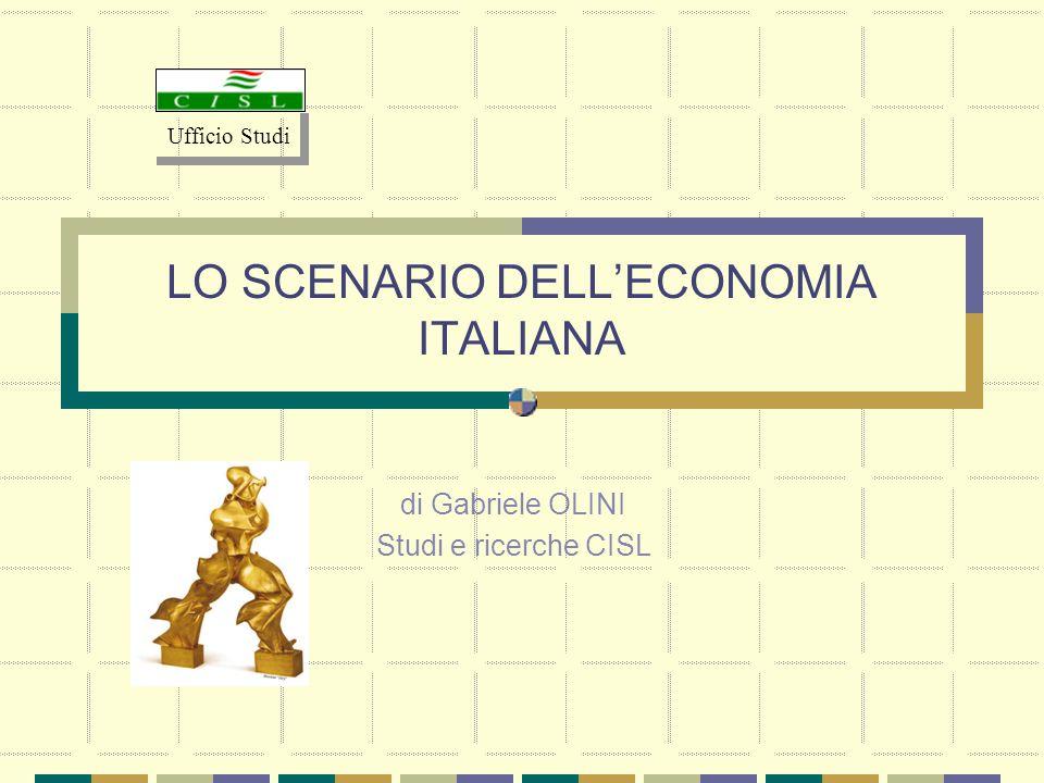 LO SCENARIO DELL'ECONOMIA ITALIANA