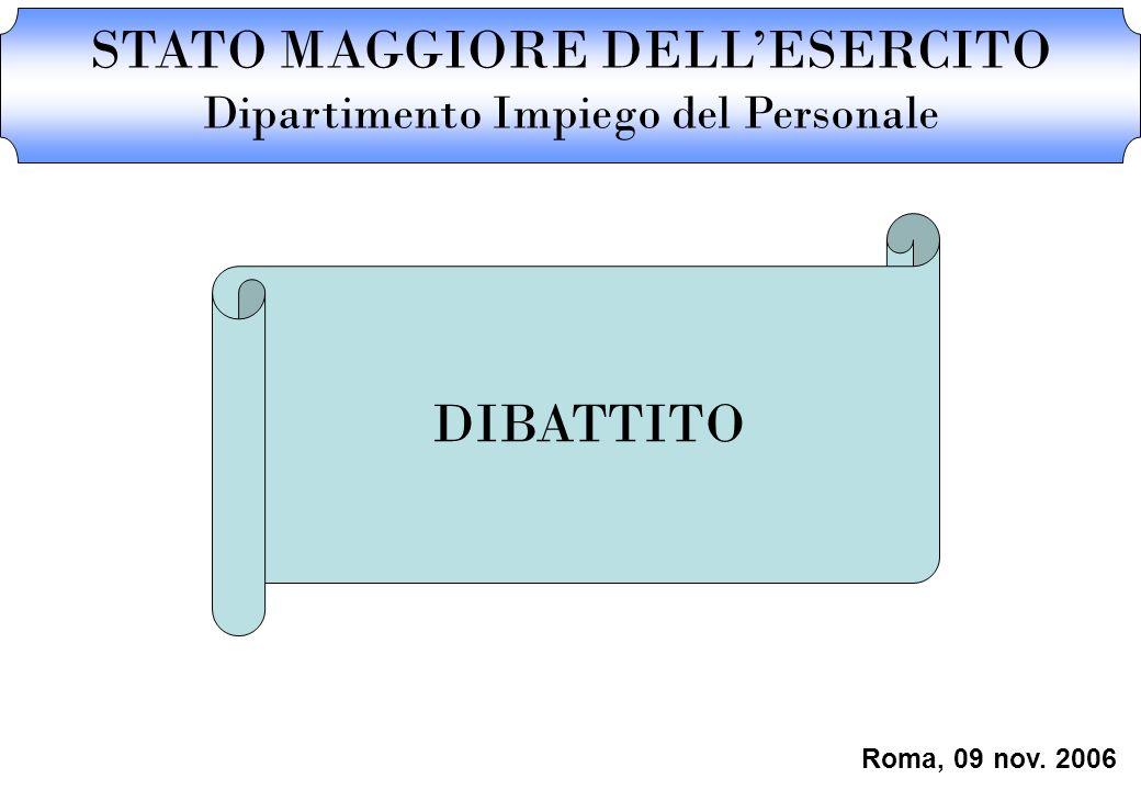 STATO MAGGIORE DELL'ESERCITO Dipartimento Impiego del Personale