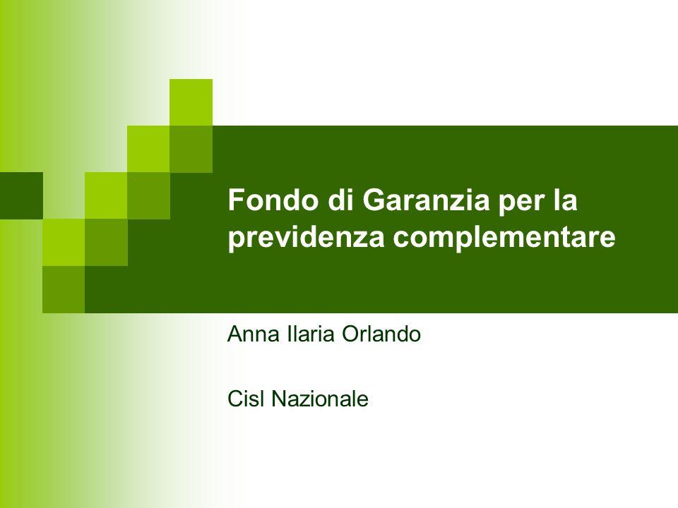 Fondo di Garanzia per la previdenza complementare