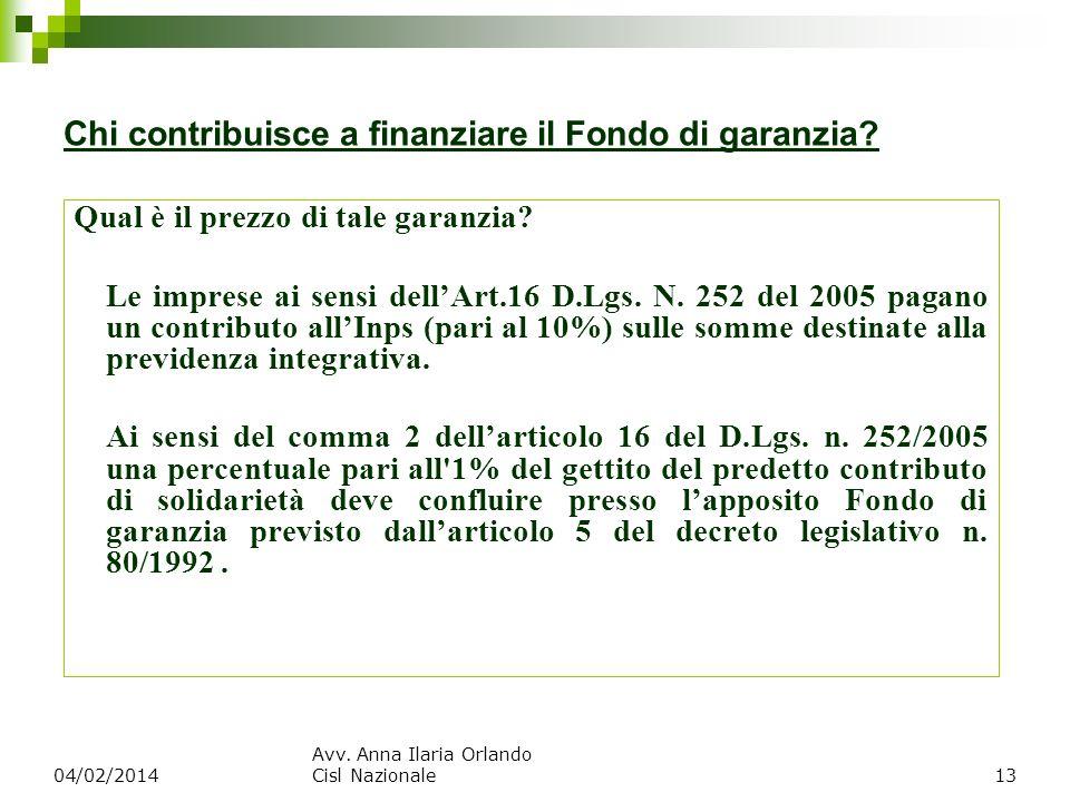 Chi contribuisce a finanziare il Fondo di garanzia