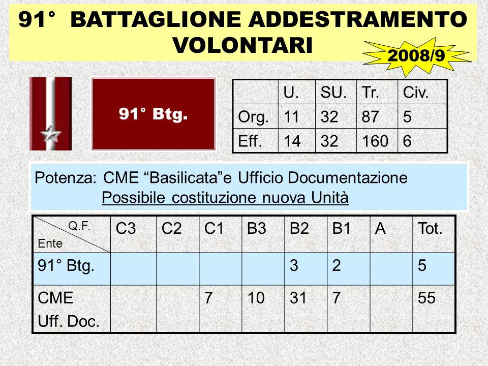91° BATTAGLIONE ADDESTRAMENTO VOLONTARI