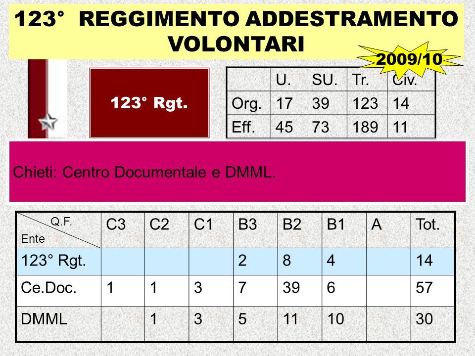 123° REGGIMENTO ADDESTRAMENTO VOLONTARI
