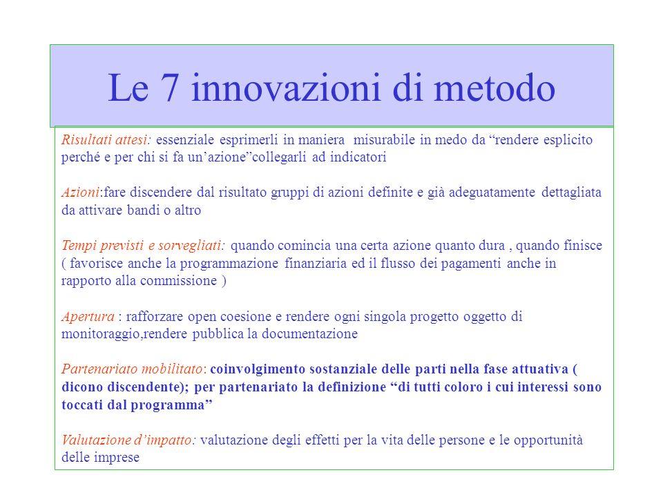 Le 7 innovazioni di metodo