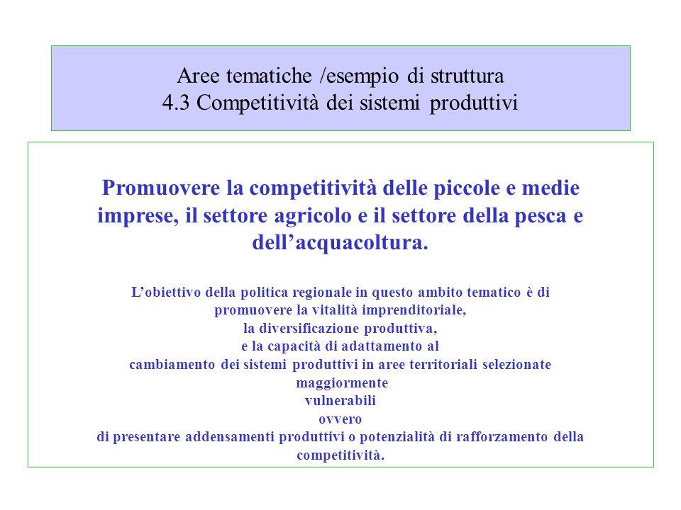 Aree tematiche /esempio di struttura 4