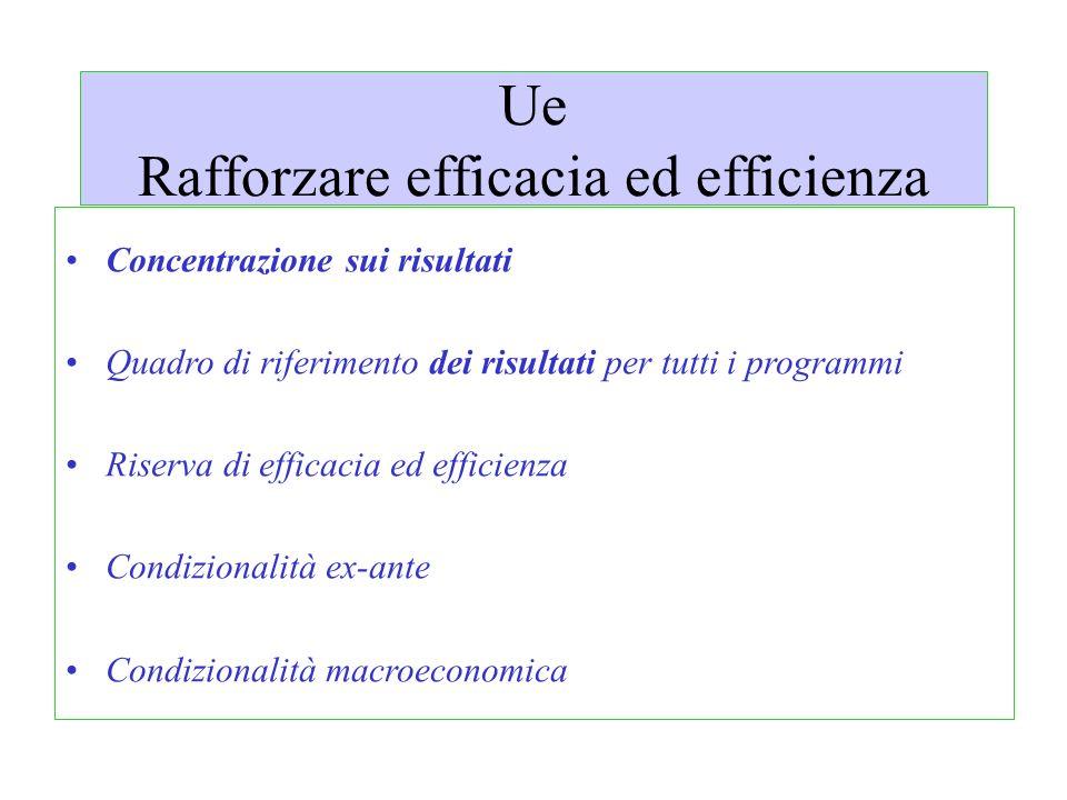 Ue Rafforzare efficacia ed efficienza