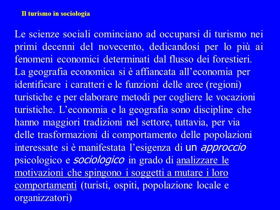 Il turismo in sociologia