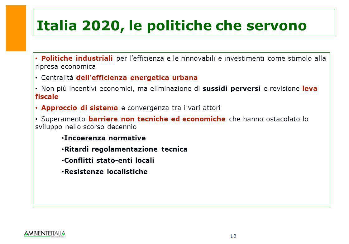 Italia 2020, le politiche che servono