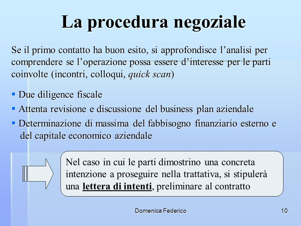 La procedura negoziale