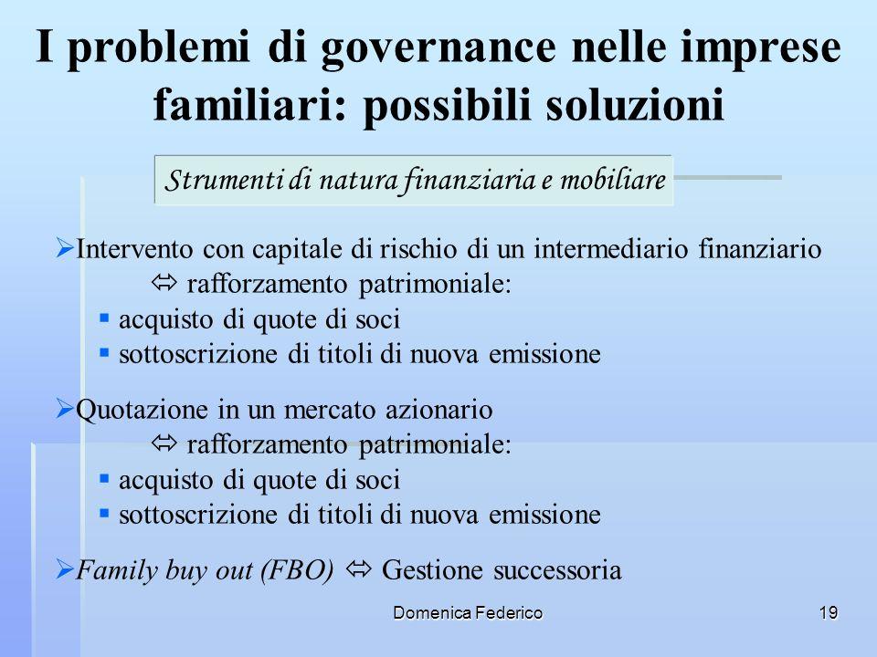 I problemi di governance nelle imprese familiari: possibili soluzioni