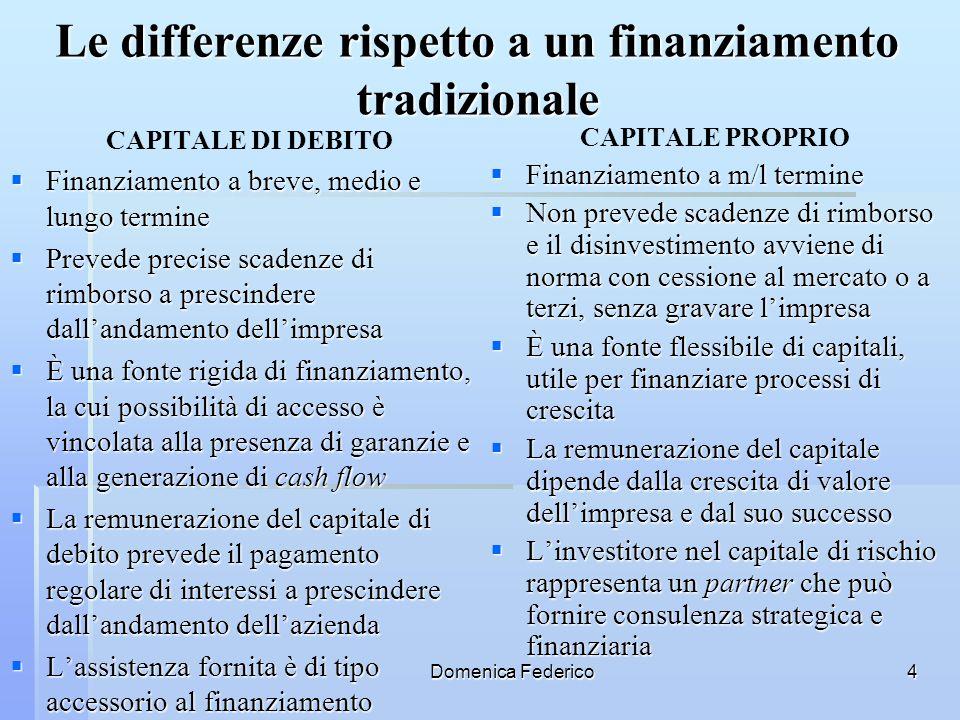 Le differenze rispetto a un finanziamento tradizionale