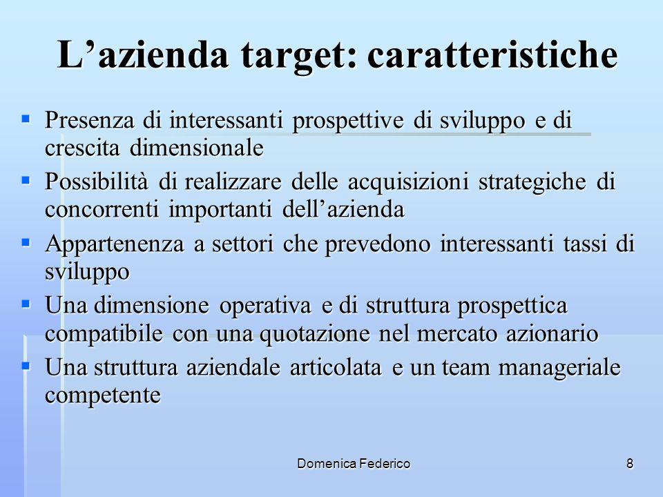L'azienda target: caratteristiche