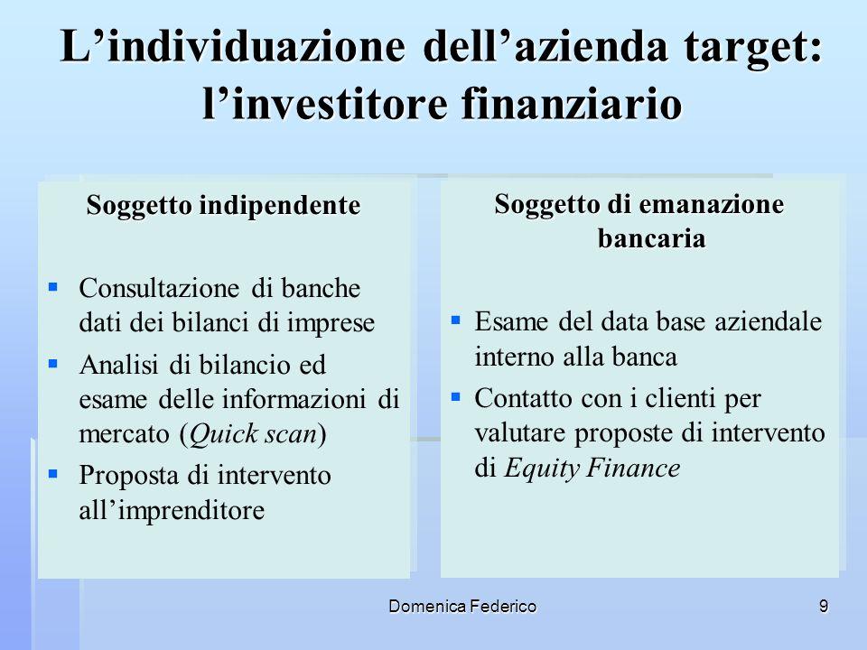 L'individuazione dell'azienda target: l'investitore finanziario