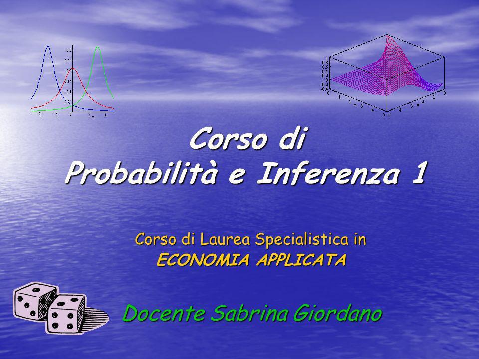Corso di Probabilità e Inferenza 1