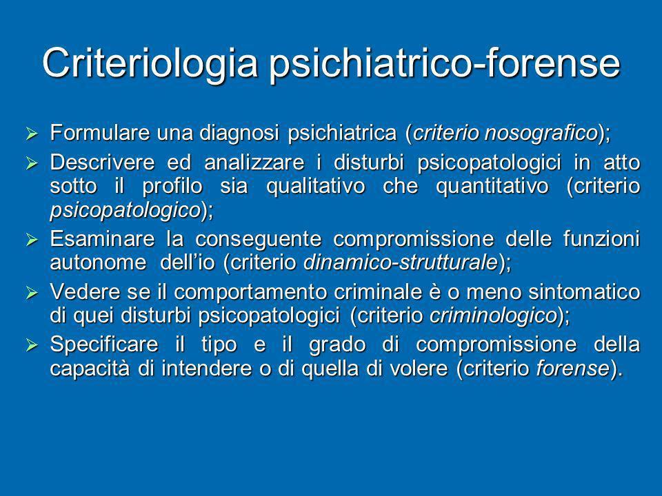 Criteriologia psichiatrico-forense
