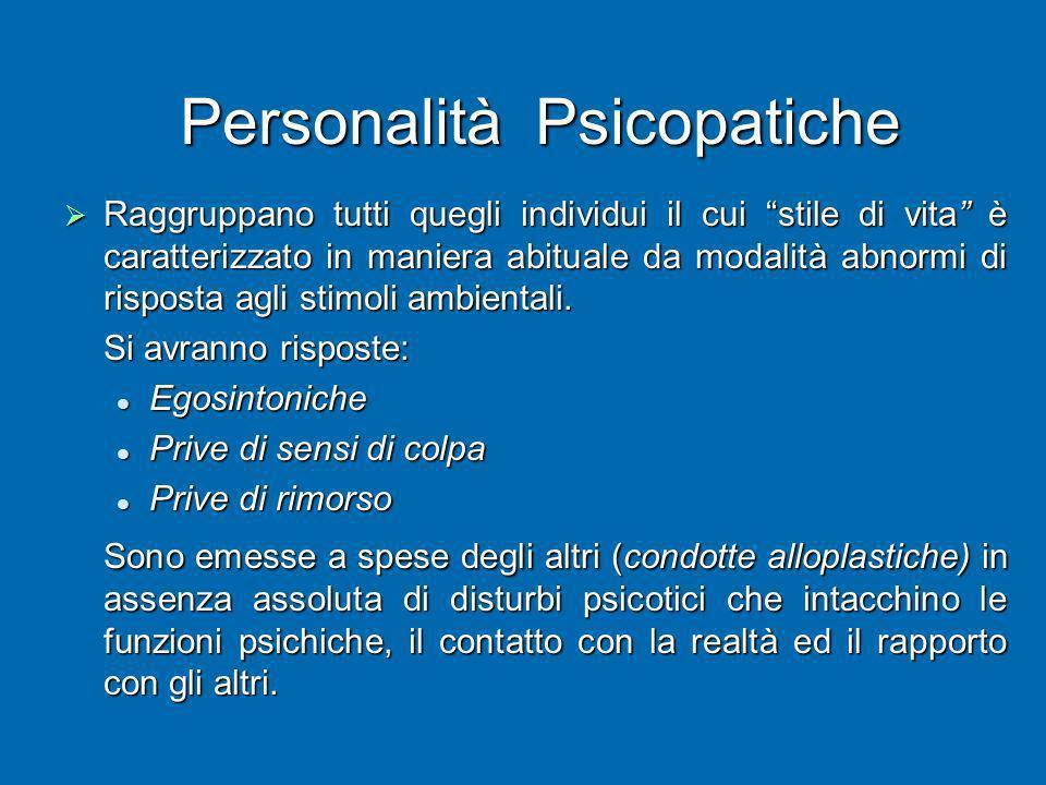Personalità Psicopatiche