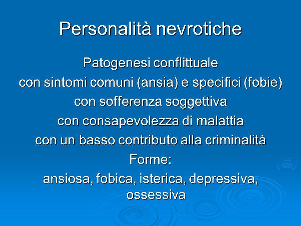 Personalità nevrotiche