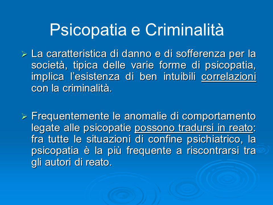 Psicopatia e Criminalità