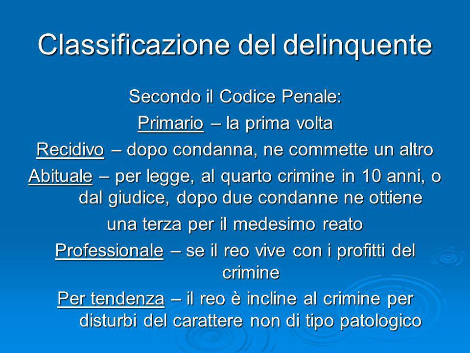 Classificazione del delinquente