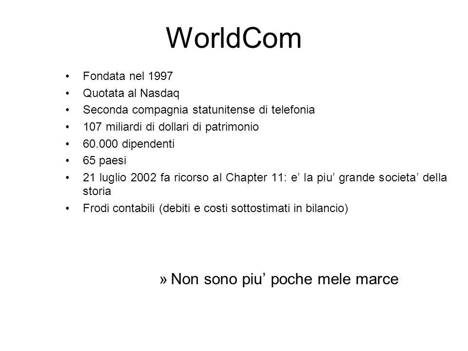 WorldCom Non sono piu' poche mele marce Fondata nel 1997