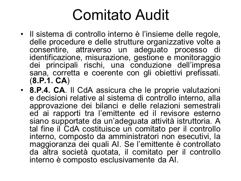 Comitato Audit
