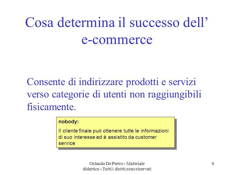 Cosa determina il successo dell' e-commerce