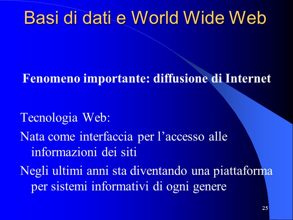 Basi di dati e World Wide Web