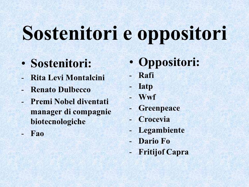 Sostenitori e oppositori