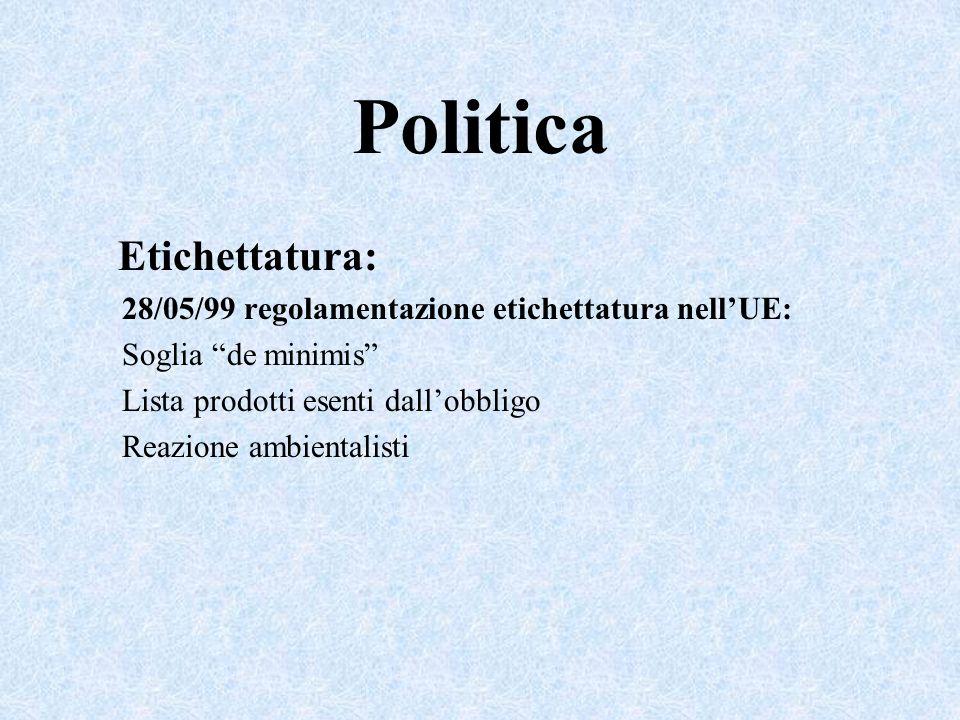 Politica Etichettatura: